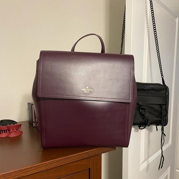 Kate spade burgundy backpack